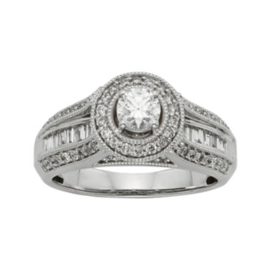 jcpenney.com | 1 CT. T.W. Diamond 10K White Gold Bridal Ring