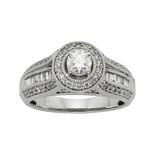 1 CT. T.W. Diamond 10K White Gold Bridal Ring