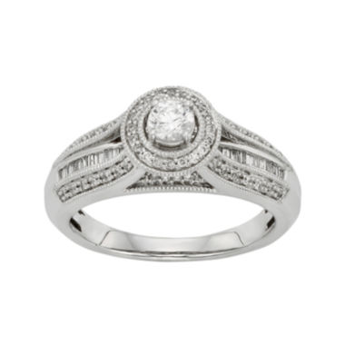 jcpenney.com | 1/2 CT. T.W. Diamond 10K White Gold Bridal Ring