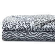 Vellux® Animal Print Flannel Sheet Set