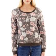 MNG by Mango® Long-Sleeve Floral Print Sweatshirt
