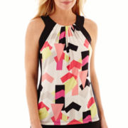 Worthington® Sleeveless Colorblock Halter-Neck Top