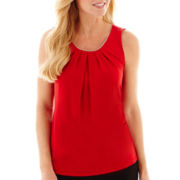 Worthington® Sleeveless Embellished-Neck Top