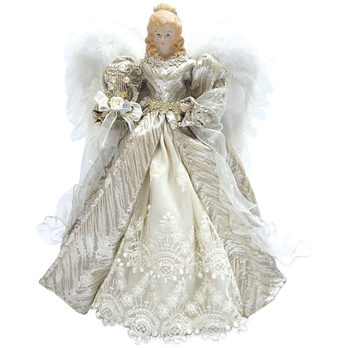 "Santa's Workshop 16"" Silver Elegance Angel Tree Topper"