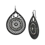 Mixit™ Lace Metalwork Teardrop Earrings