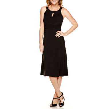 jcpenney.com | Black Label by Evan-Picone Sleeveless Ruched Waist Dress