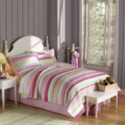 My World Anna's Ruffle Pink Quilt Set