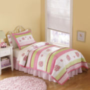 My World Crazy Pink Ladybug 3-pc. Quilt Set