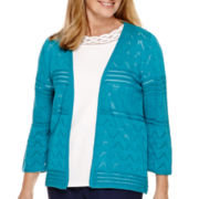 Alfred Dunner® 3/4 Sleeve Cardigan