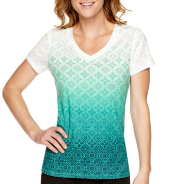 jcpenney.com | Made For Life™ Short-Sleeve Ombré T-Shirt