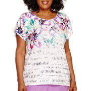 Alfred Dunner® Always In Style Cap-Sleeve Floral Top