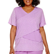 Alfred Dunner® Always In Style Short-Sleeve Dot Print Top