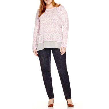 jcpenney.com | Liz Claiborne® Long Sleeve Layered Shirt or 5-Pocket Slim-Leg Jeans - Plus