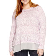Liz Claiborne® Long-Sleeve Layered Shirt - Plus