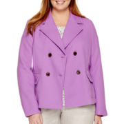 Liz Claiborne® Cropped Jacket - Plus