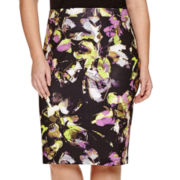 Liz Claiborne® Slim Scuba Pencil Skirt - Plus
