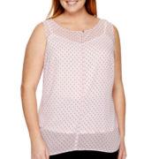 Liz Claiborne® Sleeveless Shell - Plus