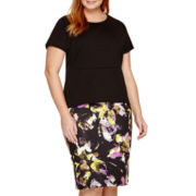 Liz Claiborne® High-Low Peplum Top or Slim Scuba Pencil Skirt - Plus