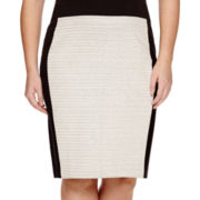 Liz Claiborne® Textured Skirt - Plus