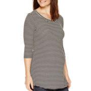Maternity 3/4-Sleeve Ribbed Tunic - Plus