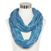 Space-Dyed Diamond-Print Waffle Scarf