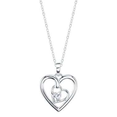 jcpenney.com | Footnotes White Cubic Zirconia Pendant Necklace