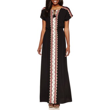 jcpenney.com | By Artisan Short Sleeve Embroidered Maxi Dress