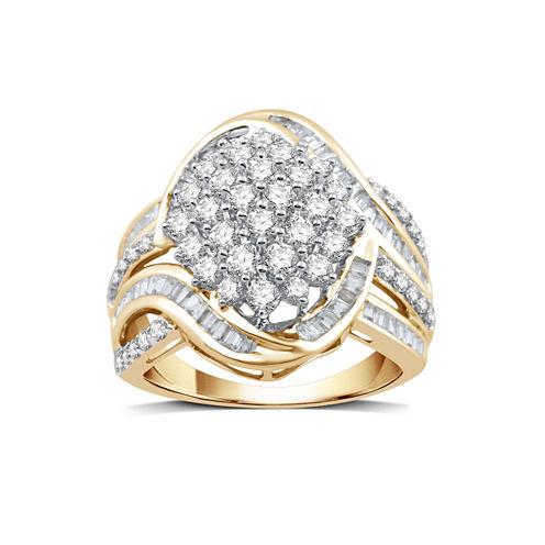 2 CT. T.W. White Diamond 10K Gold