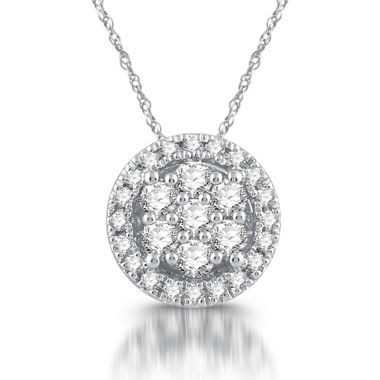 jcpenney.com | Diamond Blossom Womens White Diamond 10K Gold Pendant Necklace