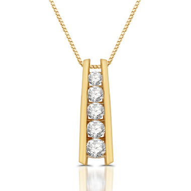 jcpenney.com | Womens 1 1/3 CT. T.W. White Diamond 10K Gold Pendant Necklace