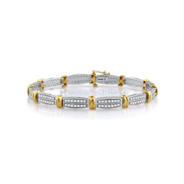 jcpenney.com | Womens 7.5 Inch White Diamond 10K Gold Link Bracelet