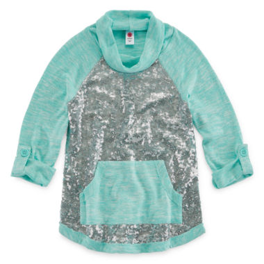 jcpenney.com | Total Girl 3/4 Sleeve Sequin Hoodie - Big Kid