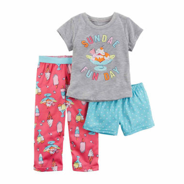 jcpenney.com | Carter'S Girls 3Pc Pajama Mock Set