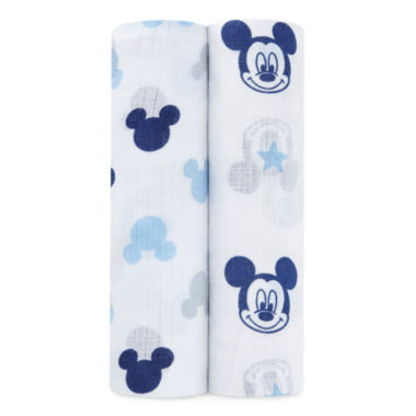 jcpenney.com | Ideal Baby 2-pc. Mickey Mouse Swaddle Blanket