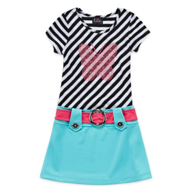 jcpenney.com | Lilt Stripe Butterfly Short Sleeve Dress Set - Preschool