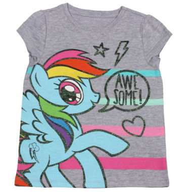 jcpenney.com | My Little Pony Short Sleeve T-Shirt-Toddler Girls