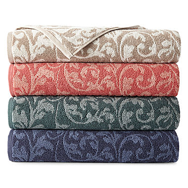 Royal Velvet Florence Scroll Bath Towel Collection Jcpenney