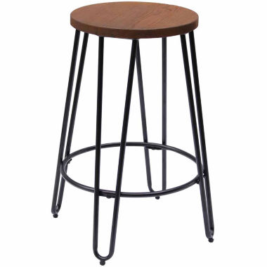 jcpenney.com | Quinn Counter Stool Matte Black Finish