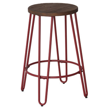 jcpenney.com | Quinn Counter Stool In Matte Red Finish