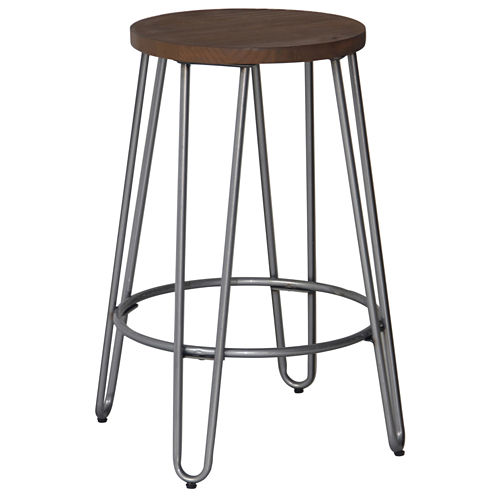 Quinn Counter Stool Natural Metal Finish