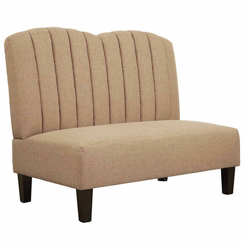 Home Meridian Upholstered Banquette Loveseat