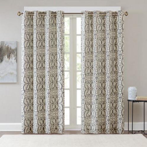 Madison Park Maren Blackout Grommet-Top Curtain Panel