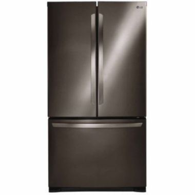 jcpenney.com | LG ENERGY STAR® 25.4 cu. ft. Ultra Large Capacity 3-Door French Door Refrigerator with Smart Cooling System