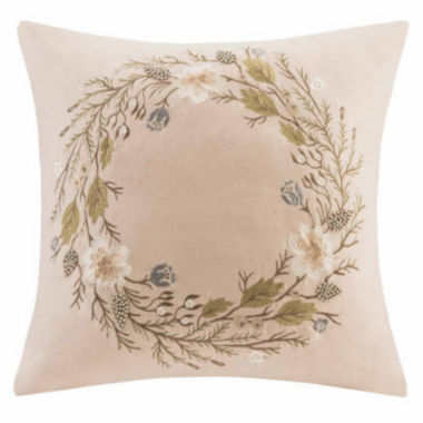 jcpenney.com | Madison Park Wreath Square Throw Pillow