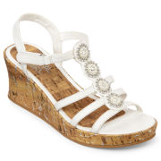 Total Girl® Marcy  Girls Wedge Sandals - Toddler