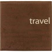 "Text Faux Suede Scrapbook 12""X12""-Travel"