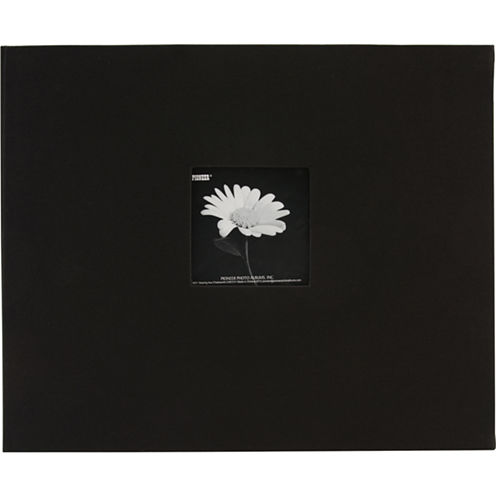 Fabric 3-Ring Binder Album With Window - Black