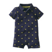 Carter's® Submarine Print Polo Romper - Boys newborn-24m