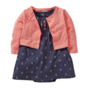 Carter's® 2-pc. Anchor Dress and Cardigan Set - Girls newborn-24m