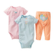 Carter's® 3-pc. Birdie Bodysuit Set - Girls newborn-24m